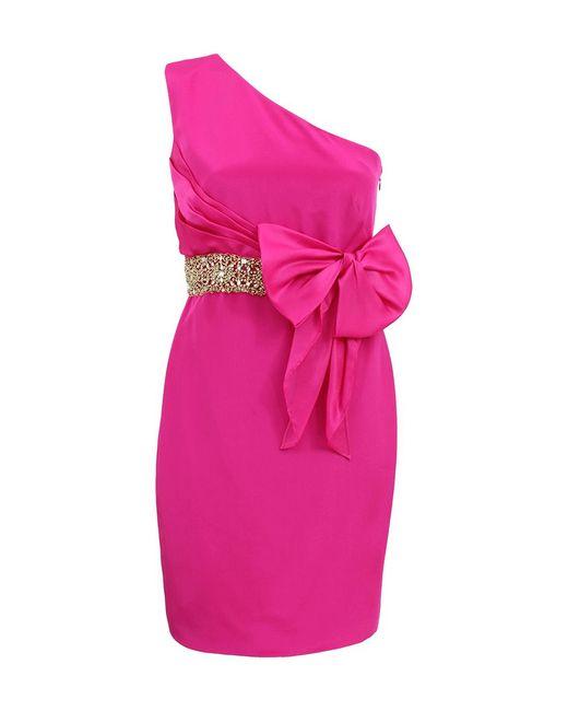 Notte by Marchesa | Blue One Shoulder Organza Bow Dress | Lyst