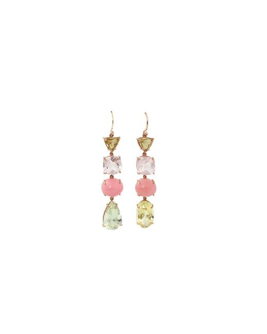 Irene Neuwirth | Multicolor Beryl And Pink Opal Earrings | Lyst