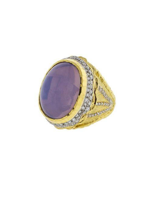Victor Velyan | Metallic Cabochon Moon Quartz Ring | Lyst