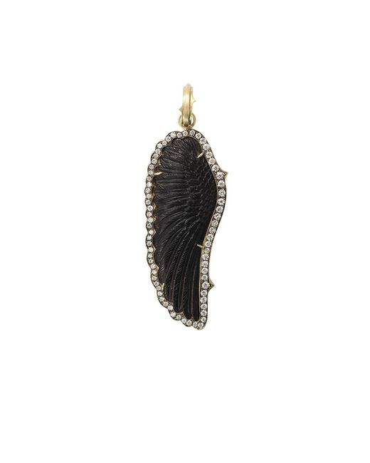 Sylva & Cie - Black Hand-carved Onyx Wing Pendant - Lyst