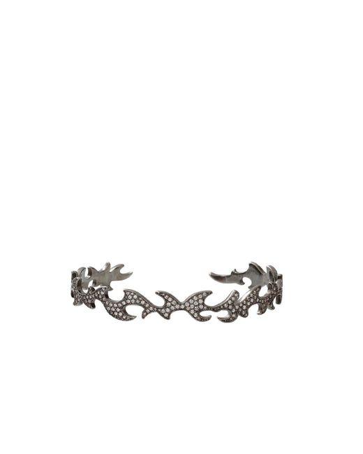 Colette - Metallic Diamond Pattern Cuff Bracelet - Lyst