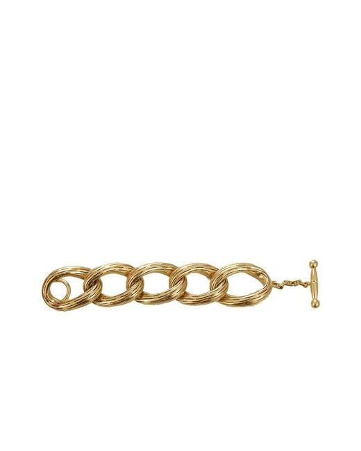 Vaubel | Metallic Oval Circle Ridge Bracelet | Lyst