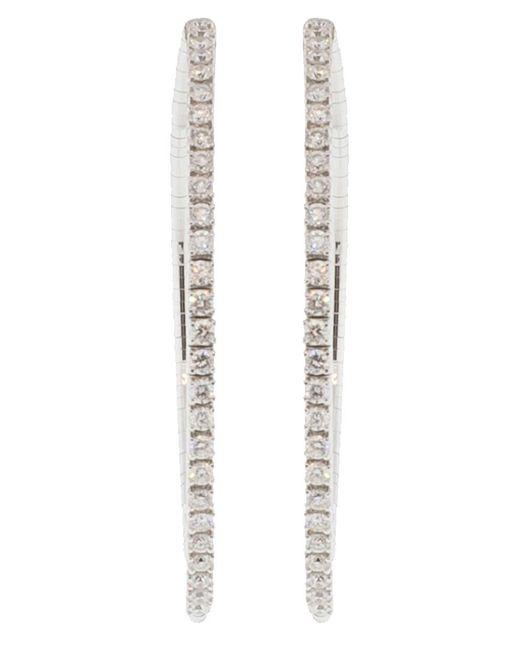 Mattia Cielo - Metallic Rugiada Diamond Pave Hoop Earrings - Lyst