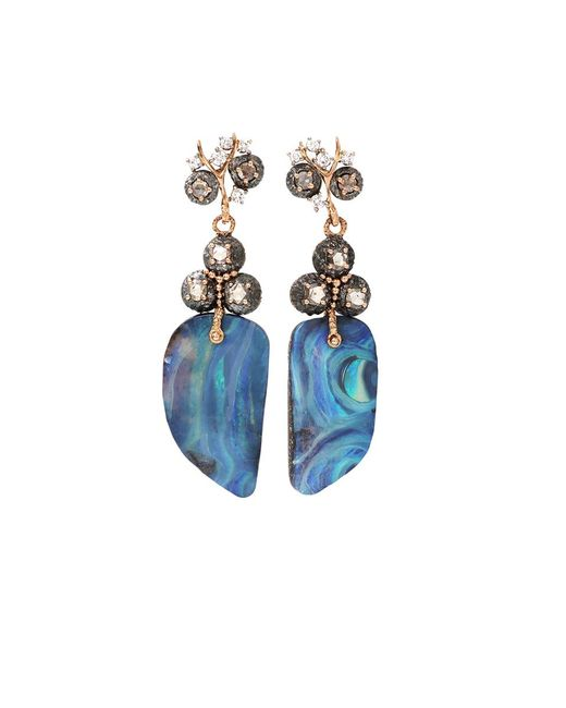 Federica Rettore | White Afrodite Earrings With Boulder Opal | Lyst