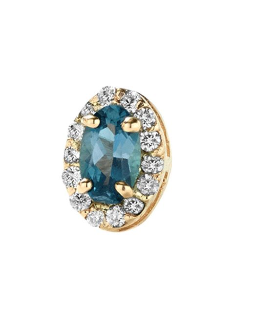 Alison Lou - Blue Topaz Single Stud Earring - Lyst