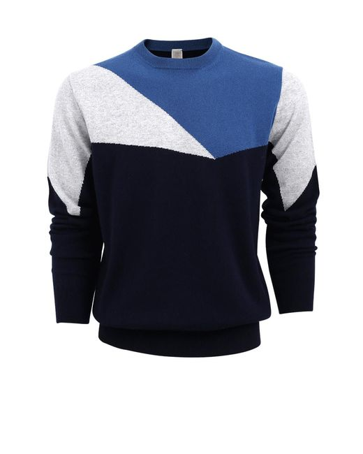 Eleventy   Blue Multi Colored Sweater for Men   Lyst