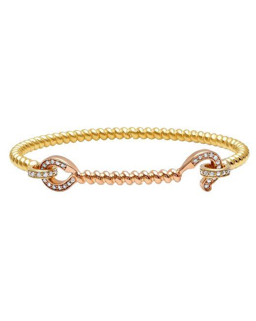 Nancy Newberg - Metallic 14-karat Gold Diamond Hook Bangle - Lyst