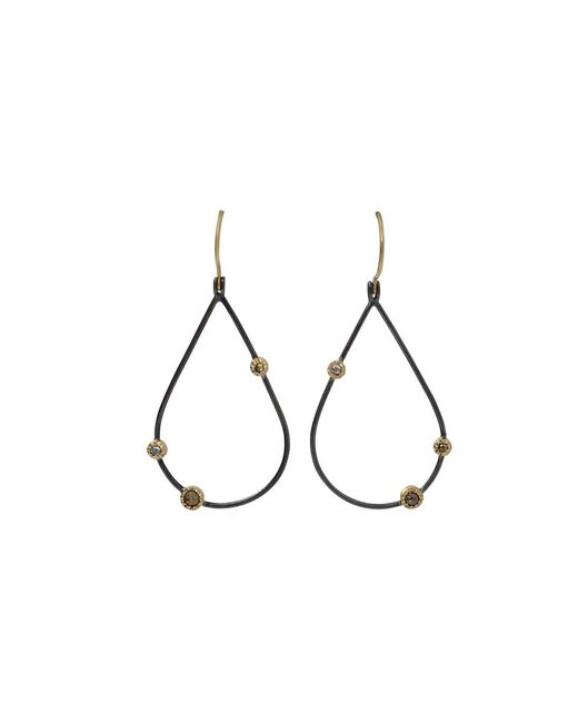 Todd Reed - Black Openwork Teardrop Diamond Earrings - Lyst