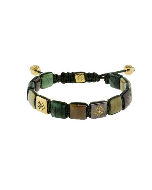 Shamballa Jewels - Green Emerald And Yellow Sapphire Lock Bracelet - Lyst