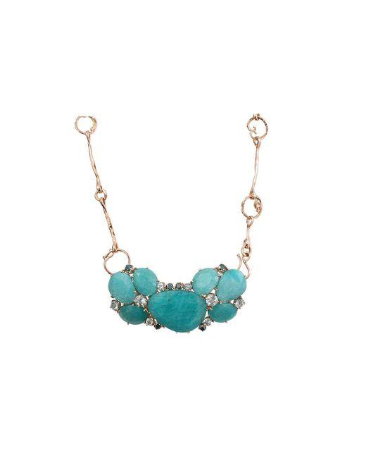 Federica Rettore - Metallic Amazonite Necklace With Aquamarines - Lyst
