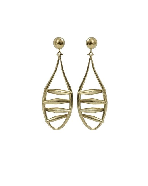 Vaubel | Metallic Open Wire Drop Earrings | Lyst