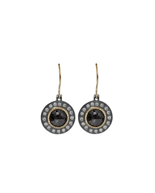 Todd Reed | Metallic Black Diamond Drop Earrings | Lyst