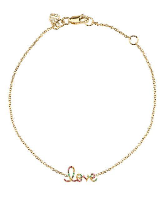 Sydney Evan - Metallic Large Rainbow Pave Love Bracelet - Lyst