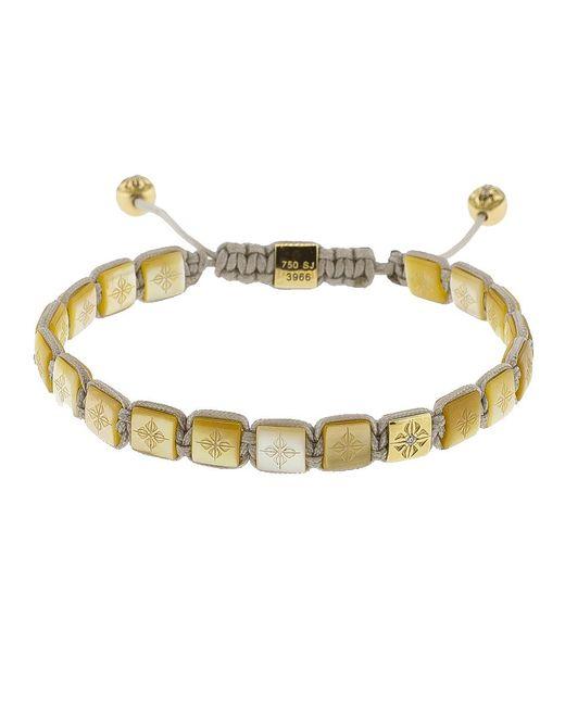 Shamballa Jewels - Metallic Pearl Lock Diamond Bracelet - Lyst