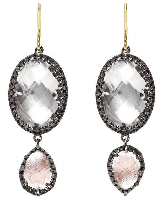 Larkspur & Hawk - Metallic Sadie Oval And Pear Drop Earrings - Lyst