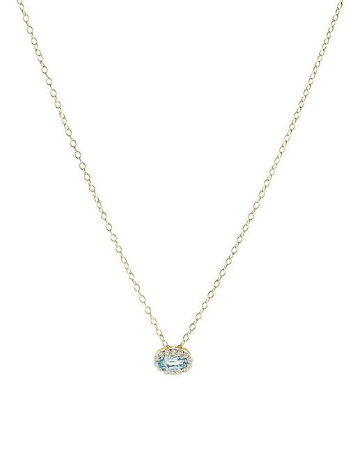 Alison Lou - Multicolor Blue Topaz Pendant Necklace - Lyst