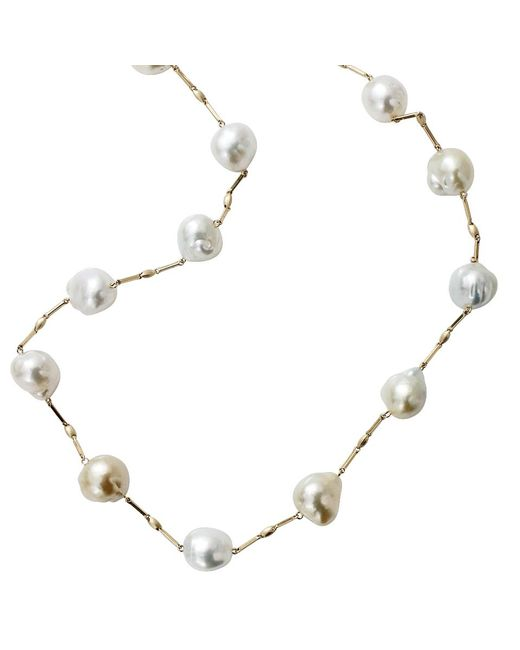 Yvel | Blue South Sea Pearl Station Necklace | Lyst