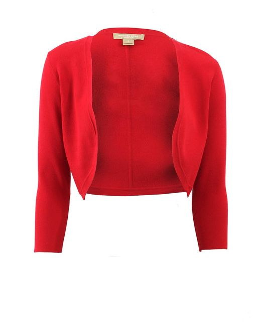 Michael Kors - Red Three-quarter Shrug - Lyst