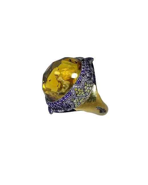 Sevan Biçakci - Multicolor Carved Doves Ring - Lyst