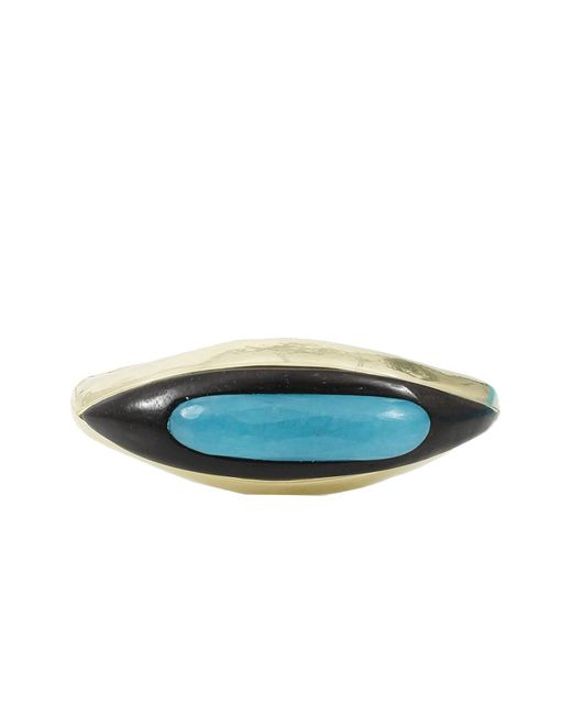 Vaubel - Metallic Oval Center Stone Cuff - Lyst