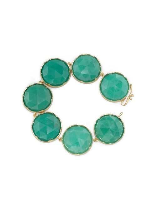 Irene Neuwirth | Blue Rose Cut Chrysoprase Bracelet | Lyst