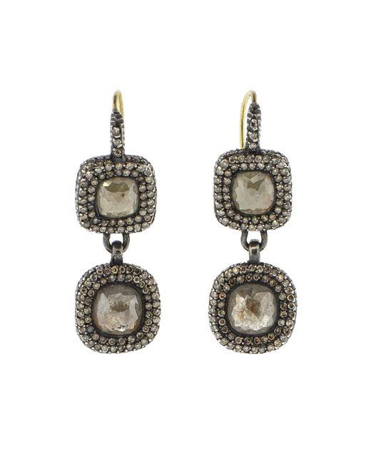 Yossi Harari | Metallic Lilah Double Drop Earrings | Lyst