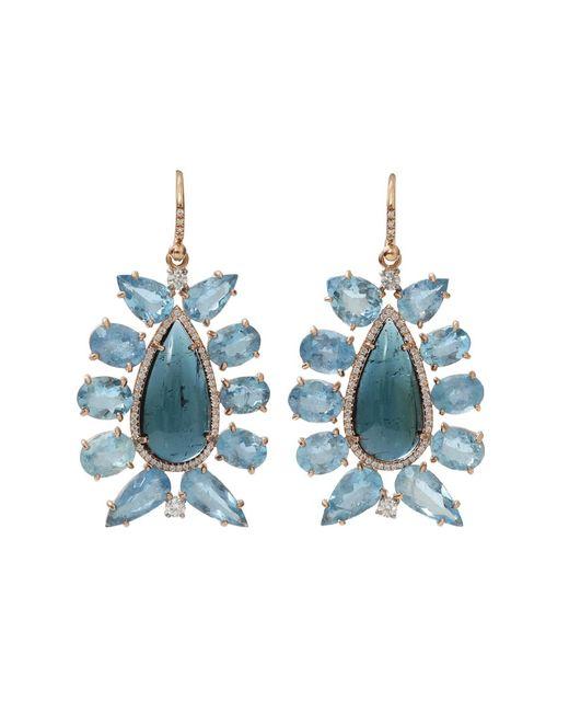 Irene Neuwirth - Blue Indicolite Tourmaline Earrings - Lyst