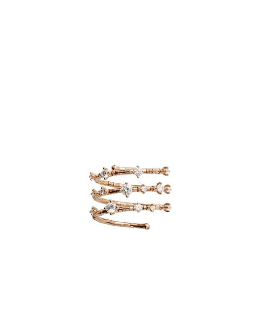 Mattia Cielo | Metallic Rugiada Three Wrap Diamond Ring | Lyst