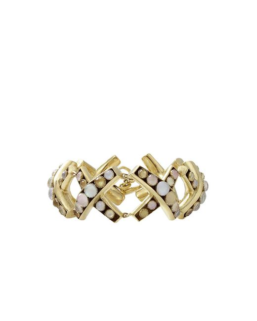 Vaubel - Metallic Round Stone X Bracelet - Lyst