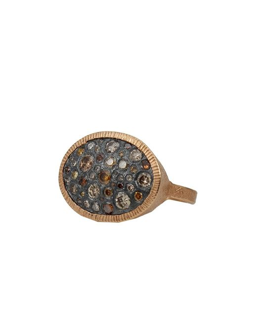Todd Reed - Brown Autumn Diamond Pave Oval Ring - Lyst