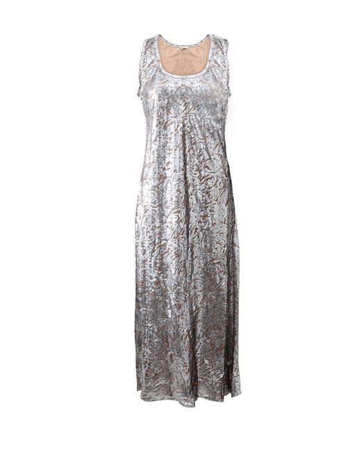 Michael Kors | Metallic Paisley Fill Coupe Tank Dress | Lyst