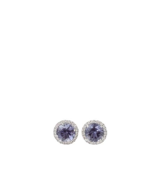 Dana Rebecca | White Anna Beth Iolite Stud Earrings With Diamond Pave | Lyst