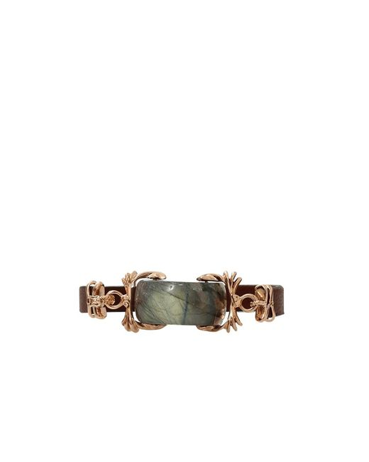 Federica Rettore | Brown Labradorite Leather Wrap Bracelet | Lyst