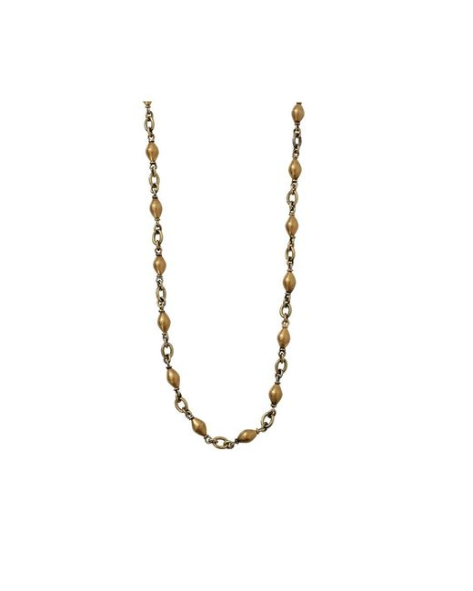 Sylva & Cie | Metallic Antique Prayer Bead Chain Necklace | Lyst