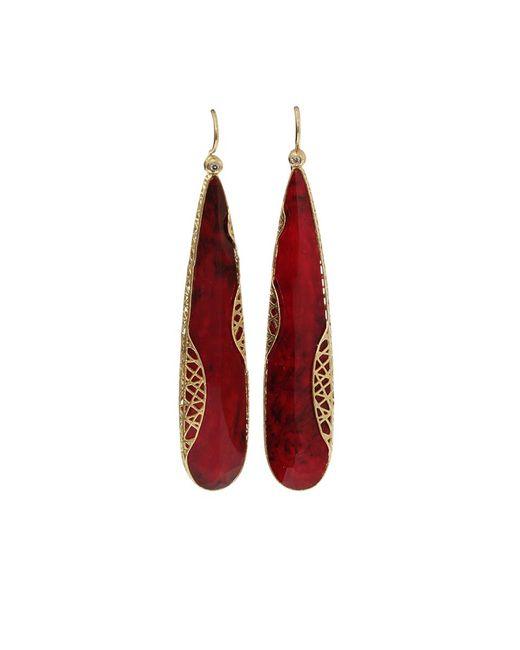 Yossi Harari   Metallic Ruby Slice Lace Earrings   Lyst
