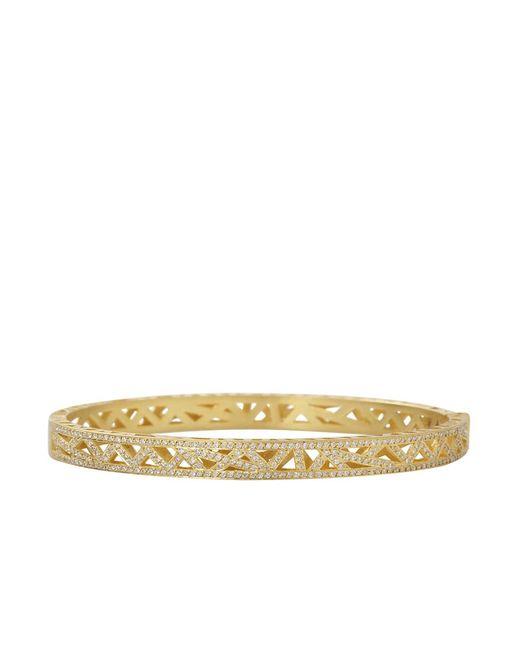 Yossi Harari | Metallic Diamond Pave Lace Cuff Bracelet | Lyst