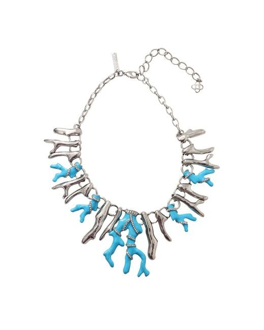 Oscar de la Renta | Blue Resin Coral Necklace | Lyst