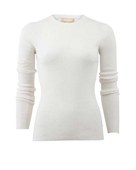 Michael Kors | White Featherweight Ribbed Shirt | Lyst