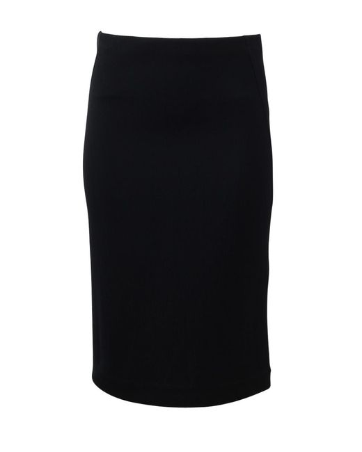 Donna Karan | Black Three Panel Skirt | Lyst