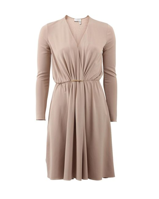 Lanvin | Natural Drape Front Dress | Lyst