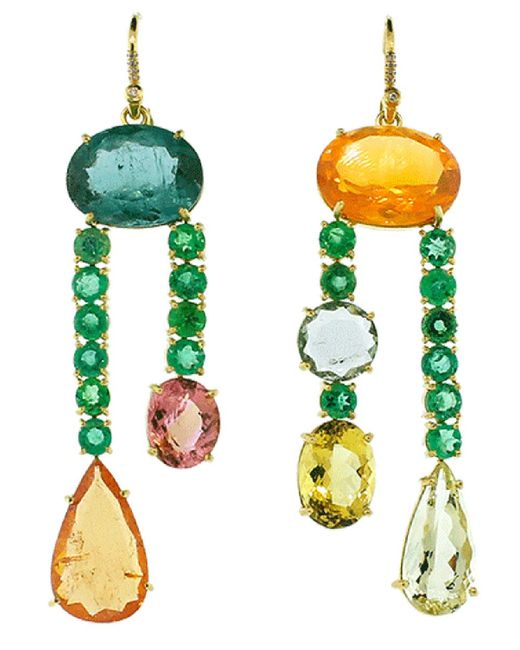 Irene Neuwirth - Multicolor One Of A Kind Earrings - Lyst