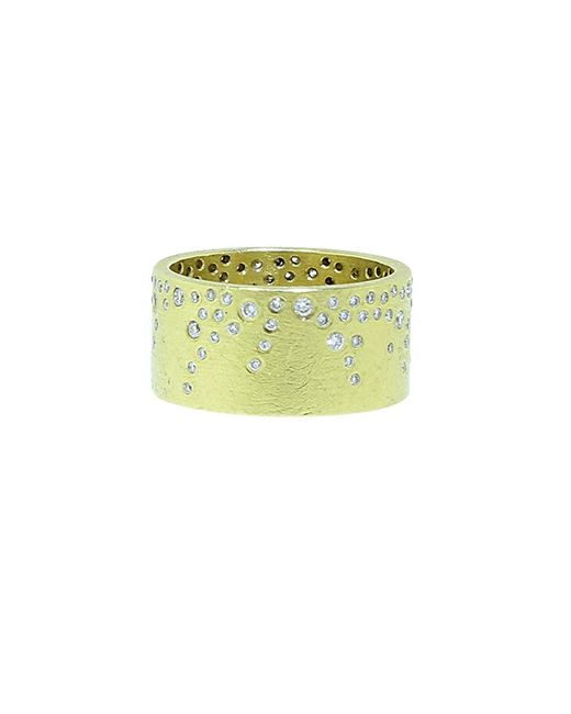 Todd Reed - Multicolor White Brilliant Diamond Sprinkle Wide Band - Lyst