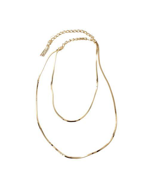 Lanvin - Metallic Art Deco Long Necklace - Lyst