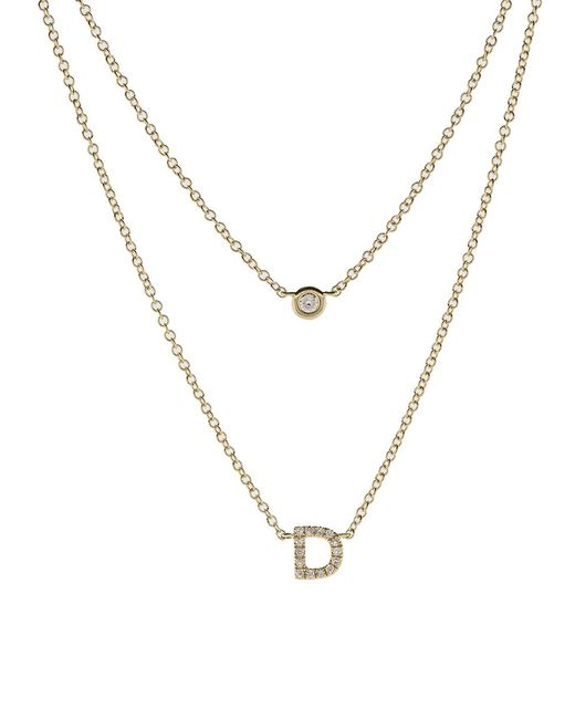 EF Collection - Metallic Diamond Initial D Choker Necklace - Lyst
