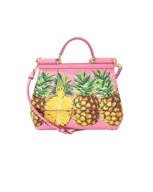 Dolce & Gabbana | Multicolor Pineapple Print Miss Sicily | Lyst