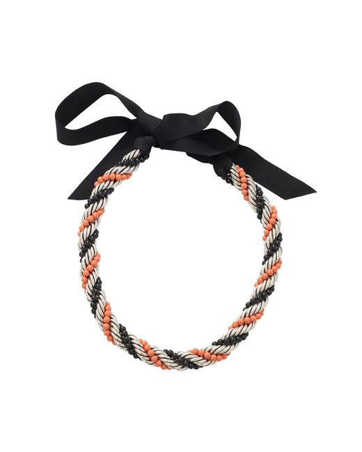 Lanvin - Orange Virna Twisted Bead Necklace - Lyst