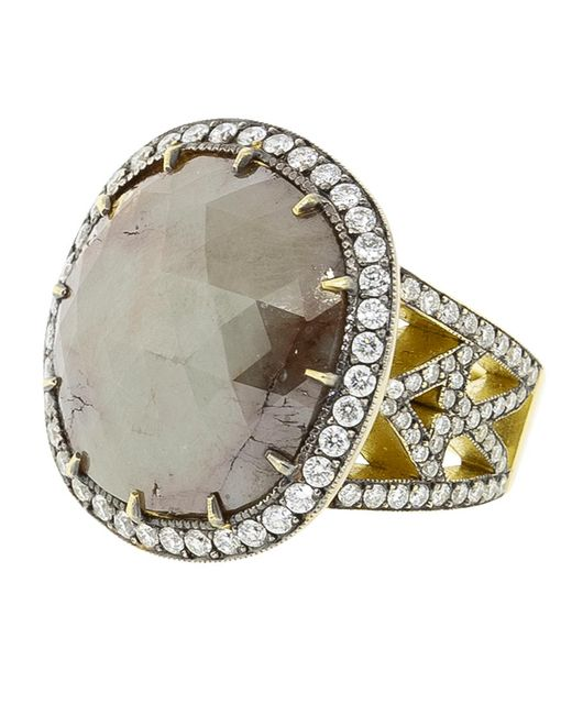 Sylva & Cie - Multicolor Rough Diamond Ring - Lyst