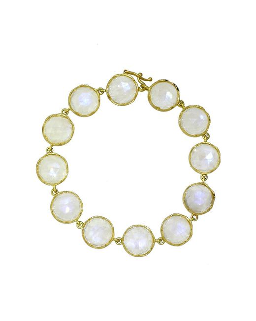 Irene Neuwirth | White Rose Cut Rainbow Moonstone Bracelet | Lyst