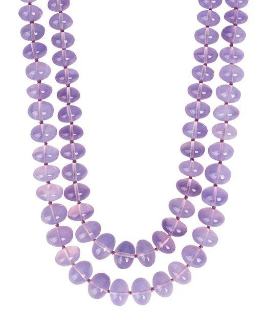 Victor Velyan | Multicolor Moon Quartz Beaded Necklace | Lyst