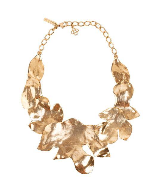 Oscar de la Renta - Metallic Foliage Necklace - Lyst